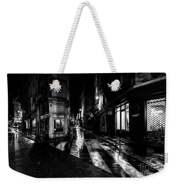 Paris At Night - Rue De Seine Weekender Tote Bag
