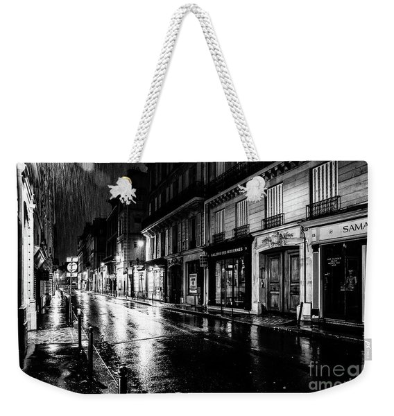 Paris At Night - Rue Saints Peres Weekender Tote Bag