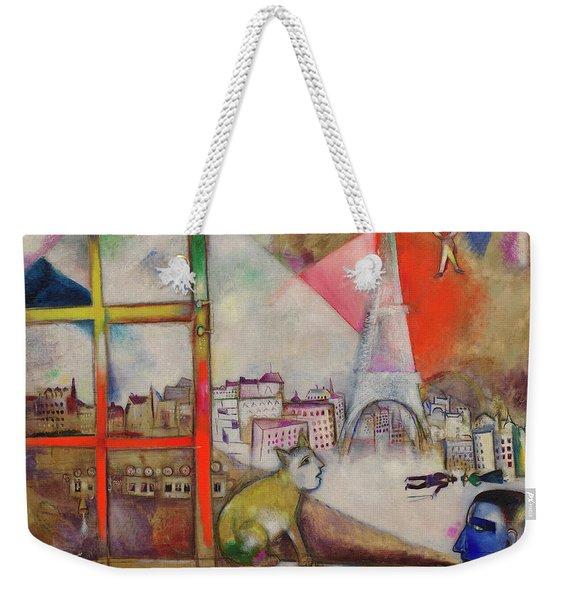 Paris Through The Window - Paris Par La Fenetre, 1913 Weekender Tote Bag