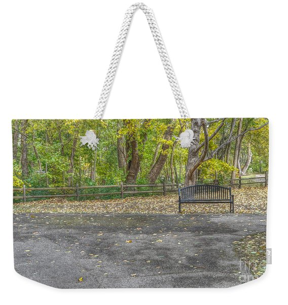 Park Bench @ Sharon Woods Weekender Tote Bag