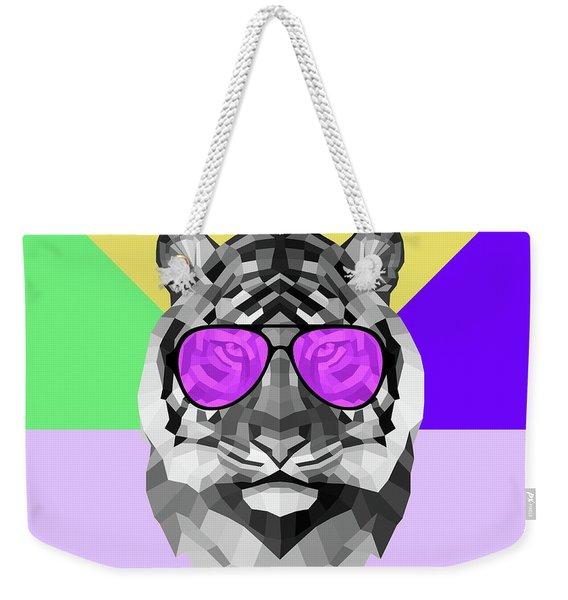 Party Tiger In Glasses Weekender Tote Bag