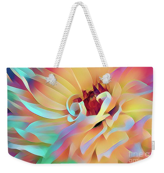 Party Time Dahlia Abstract Weekender Tote Bag