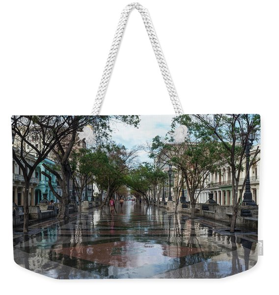 Paseo Del Prado After A Rain, Havana Weekender Tote Bag