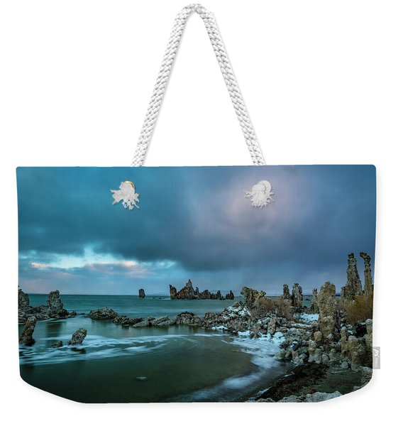 Passing Storm, Mono Lake Weekender Tote Bag