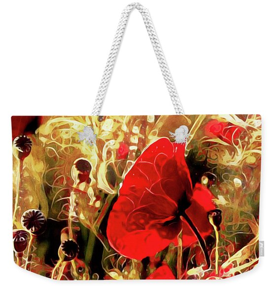 Passionate About Poppies Weekender Tote Bag