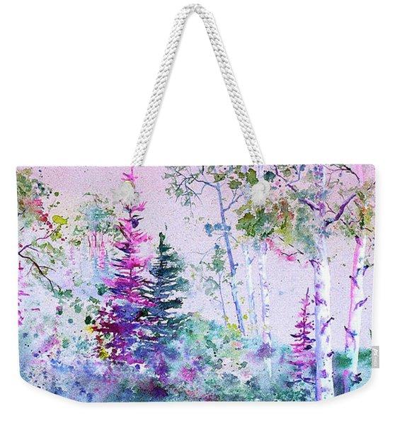 Pastel Aspen Weekender Tote Bag