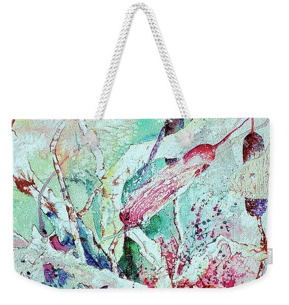 Pastel Cattails Weekender Tote Bag