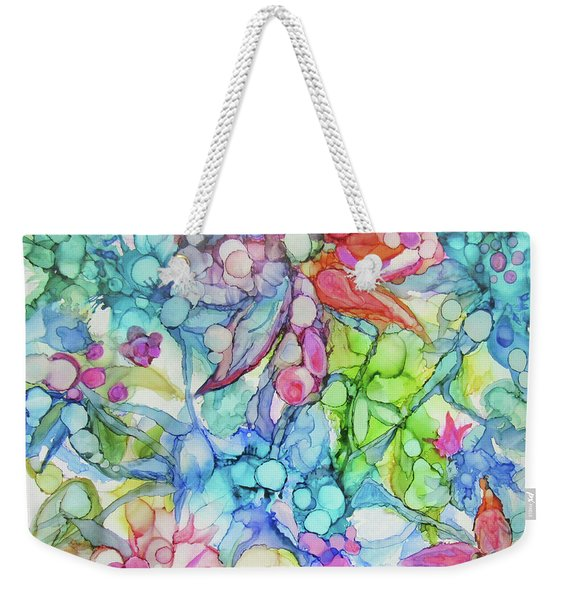 Pastel Flowers - Alcohol Ink Weekender Tote Bag