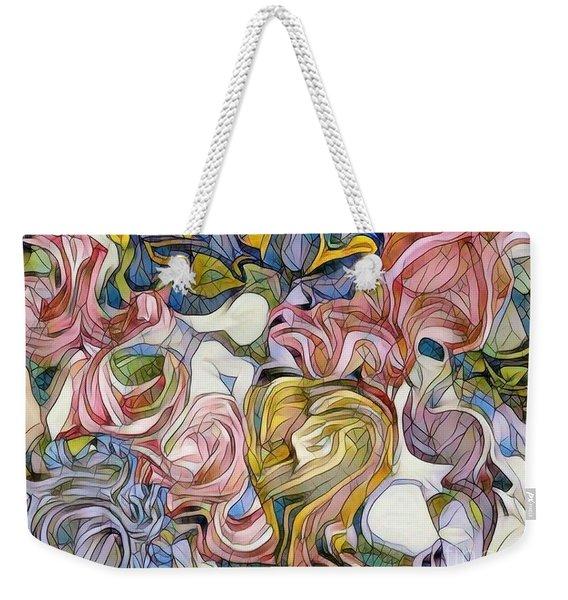 Pastel Mosaic Weekender Tote Bag