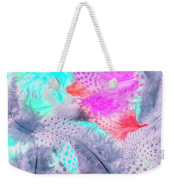 Pastel Plumes Weekender Tote Bag