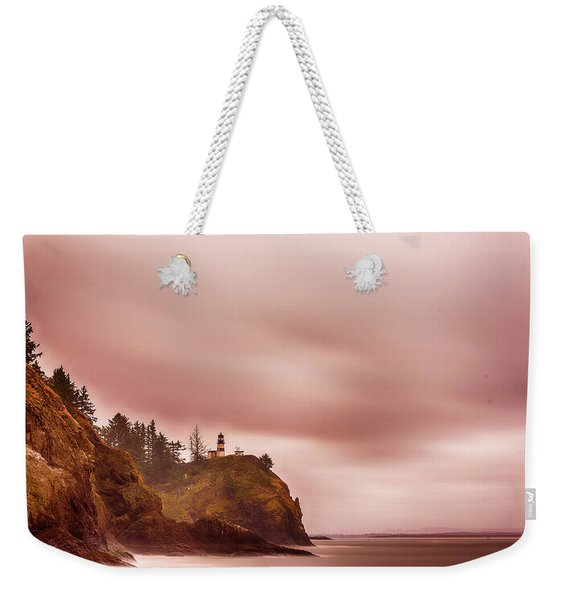 Weekender Tote Bag featuring the photograph Pastel Seascape by Dheeraj Mutha