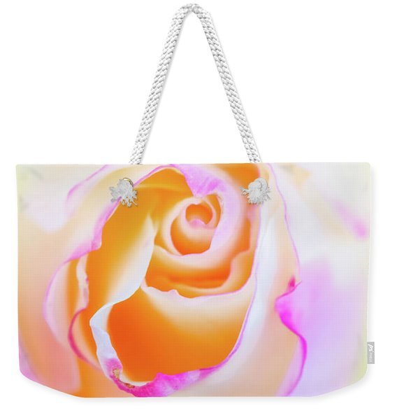 Weekender Tote Bag featuring the photograph Pastels by Laura Roberts