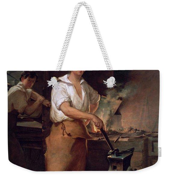 Pat Lyon At The Forge, 1827 Weekender Tote Bag