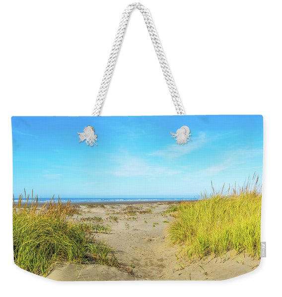 Path Between Beach Grass Weekender Tote Bag