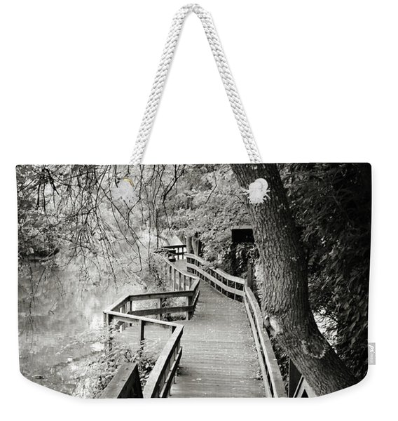 Weekender Tote Bag featuring the photograph Pathway by Michelle Wermuth