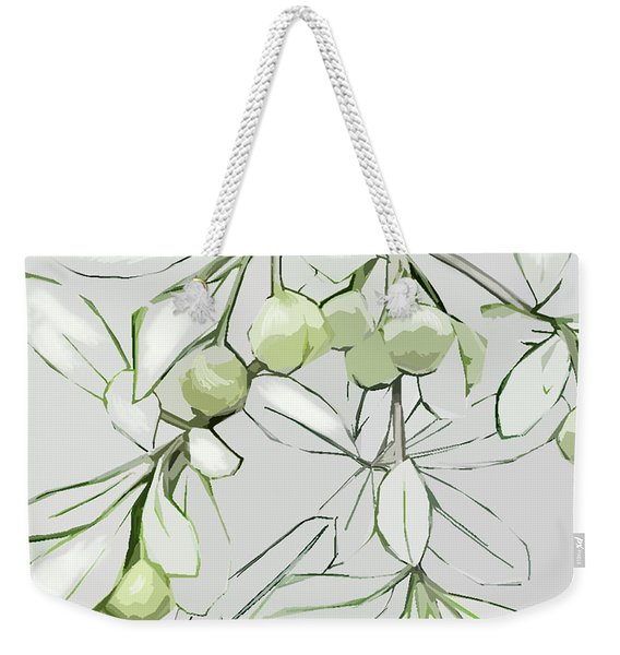 Weekender Tote Bag featuring the digital art Patio Print by Gina Harrison