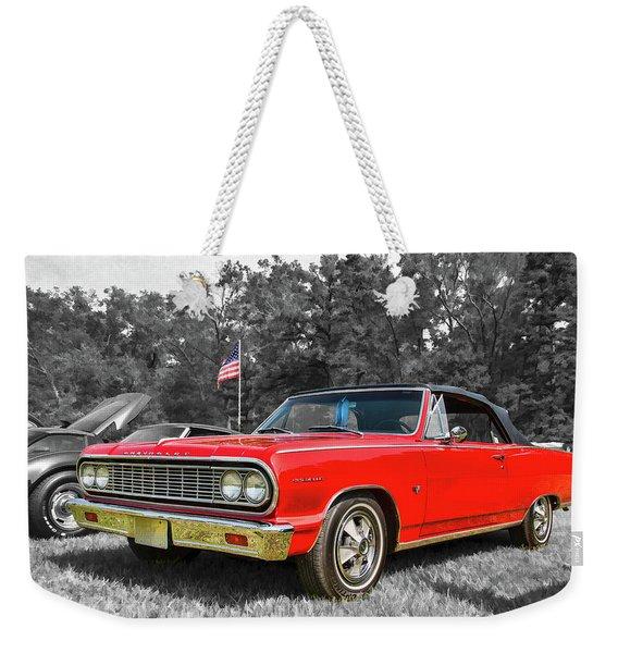 Patriotic 64 Chevy Chevelle Weekender Tote Bag
