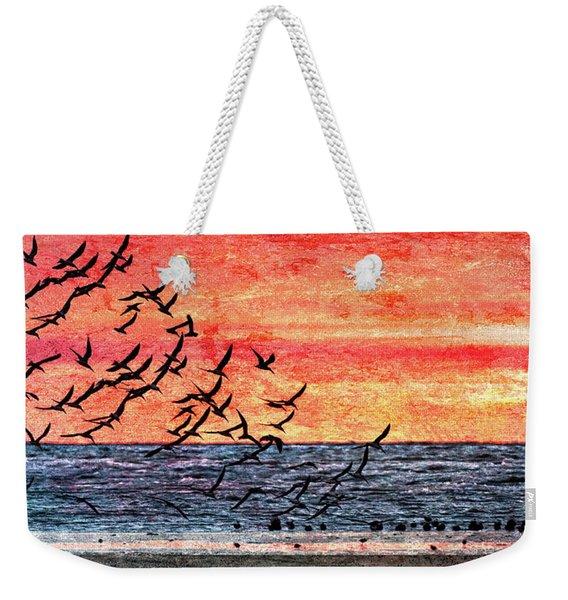 Patriotic Sunrise Weekender Tote Bag