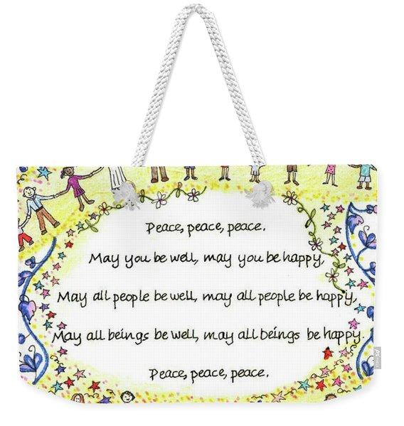 Peace, Peace, Peace Weekender Tote Bag