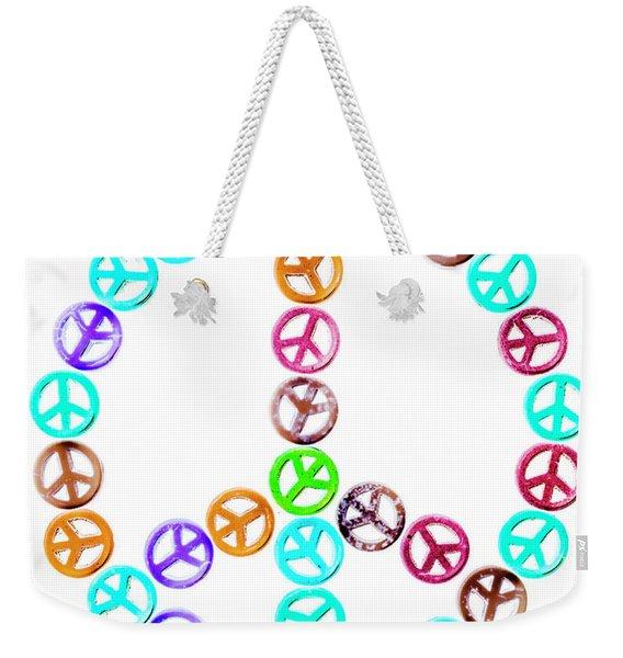 Peace United Weekender Tote Bag
