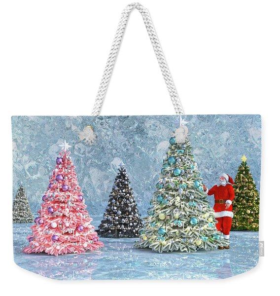 Peaceful Holiday Spirits Weekender Tote Bag