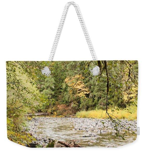 Peaceful Molalla River Weekender Tote Bag