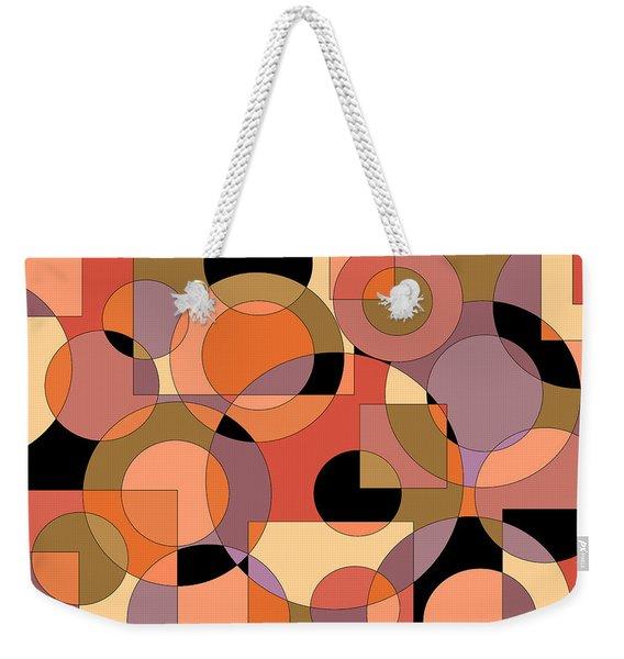 Peach Circle Abstract Weekender Tote Bag