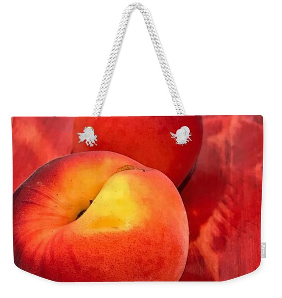 Peachy Weekender Tote Bag