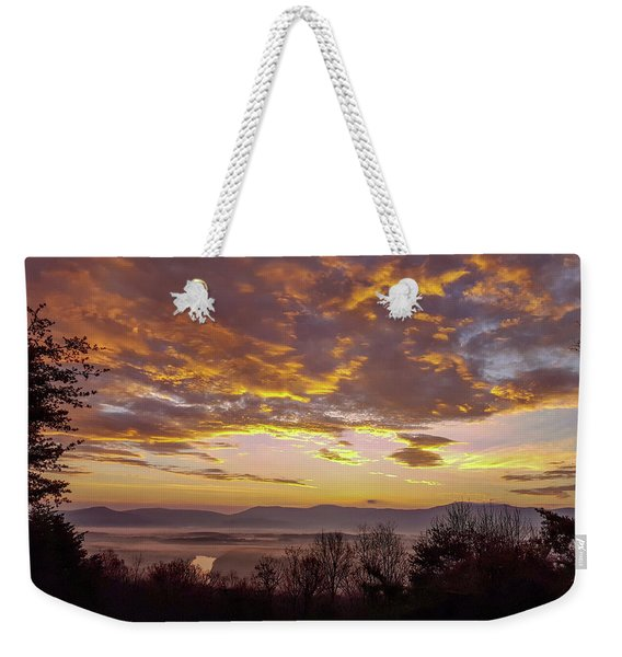 Peachy Shenandoah Valley Sunrise Weekender Tote Bag