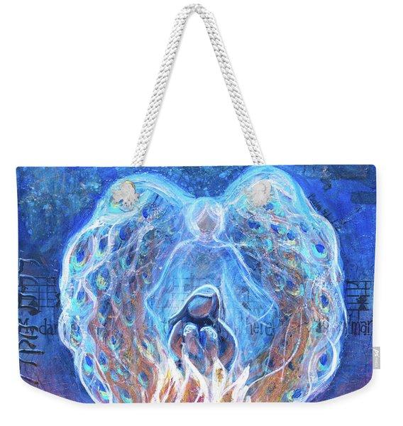 Peacock Angel    Cooler Version Weekender Tote Bag