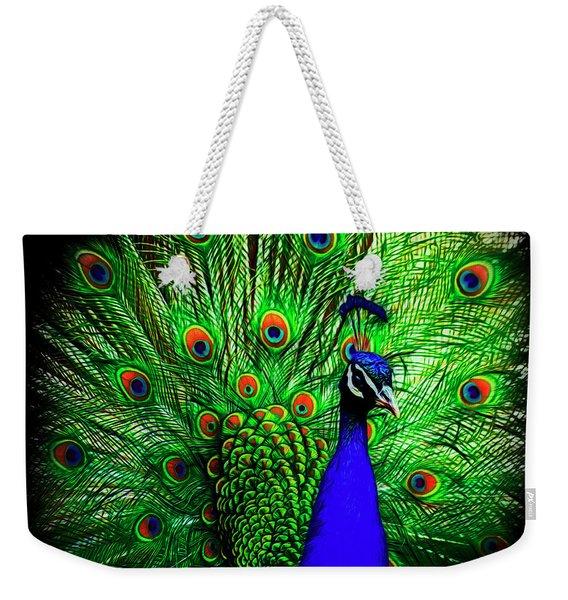 Peacock Paradise Weekender Tote Bag