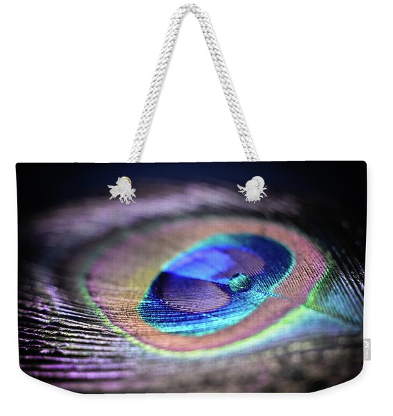 Weekender Tote Bag featuring the photograph Peacocked by Michelle Wermuth