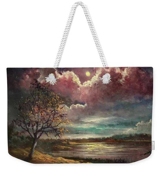 Pearl Of The Night Weekender Tote Bag