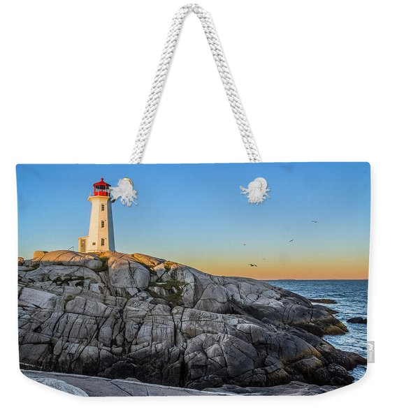 Peggys Cove Lighthouse Weekender Tote Bag