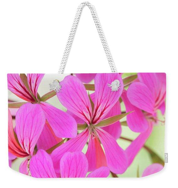 Pelargonium Ville De Paris Flowers  Weekender Tote Bag