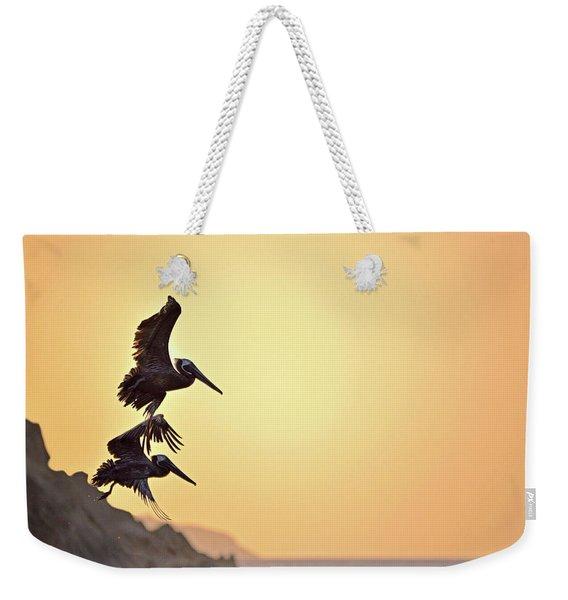 Pelican Down Weekender Tote Bag
