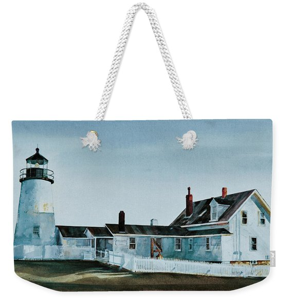 Pemaquid Light Weekender Tote Bag