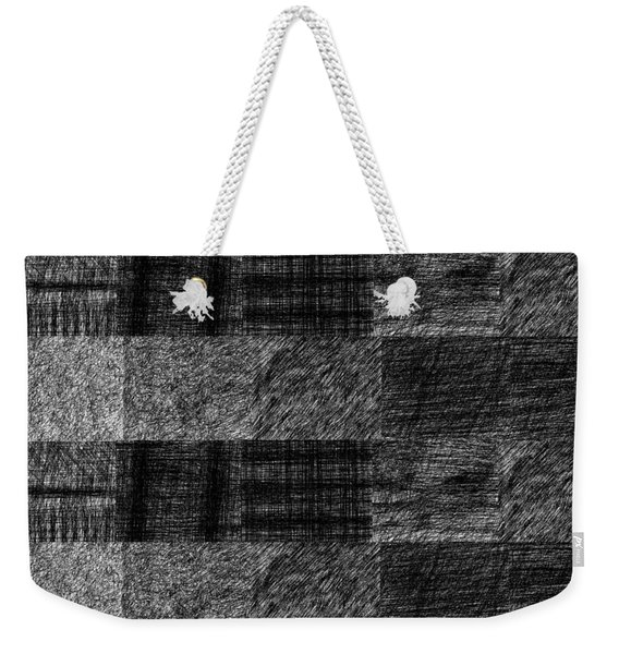 Pencil Scribble Texture 1 Weekender Tote Bag