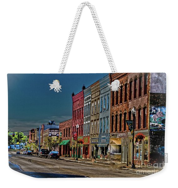 Weekender Tote Bag featuring the photograph Penn Yan by William Norton