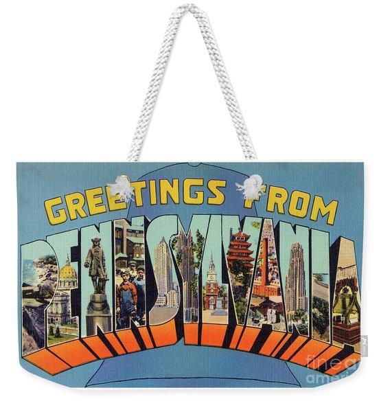 Pennsylvania Greetings Weekender Tote Bag