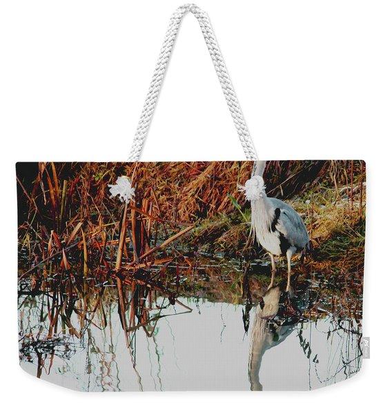 Pensive Heron Weekender Tote Bag