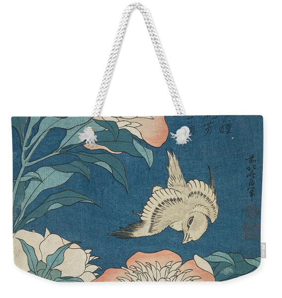 Peonies And Canary, From An Untitled Series Known As Small Flowers Weekender Tote Bag