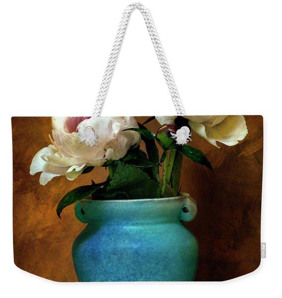 Peonies In Spring Weekender Tote Bag