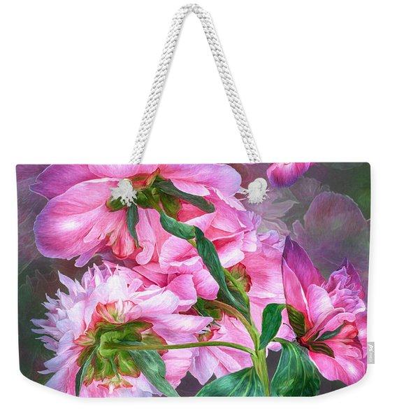 Peony Butterflies Weekender Tote Bag