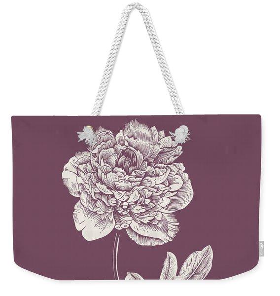 Peony Purple Flower Weekender Tote Bag