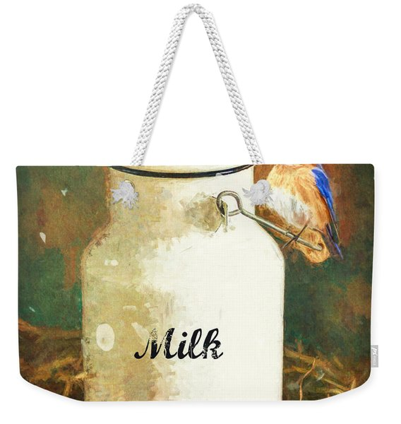 Perched On The Milk Can Weekender Tote Bag