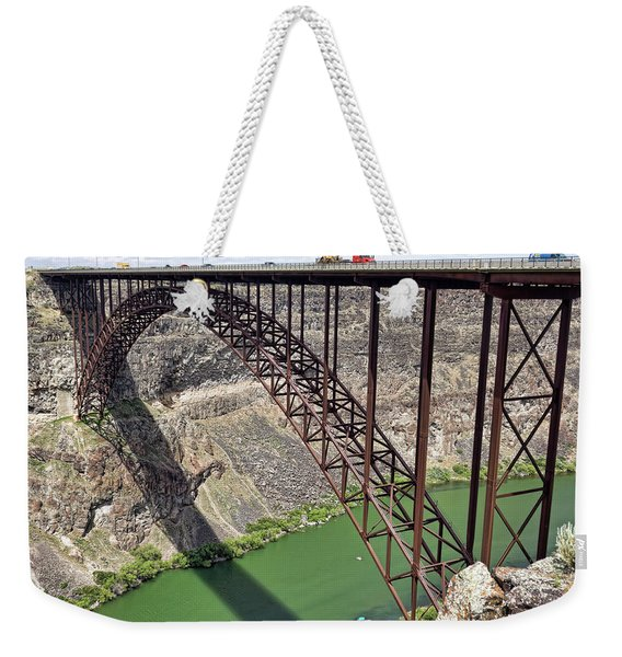 Perrine Bridge, Twin Falls, Idaho Weekender Tote Bag
