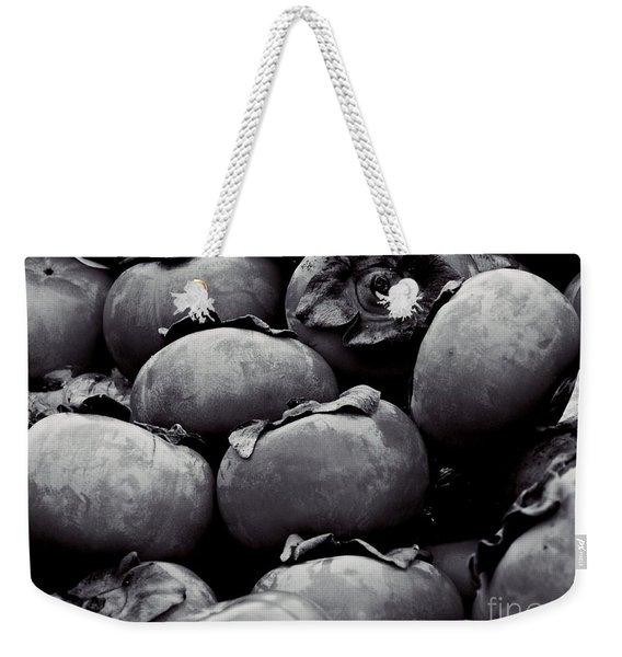 Persimmons Grayscale      Weekender Tote Bag