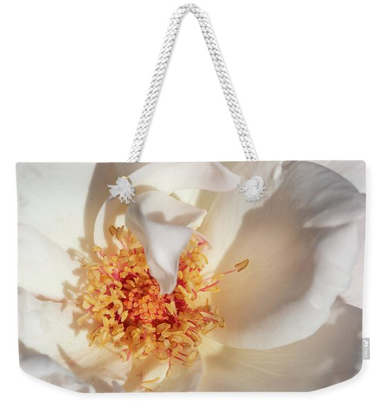 Weekender Tote Bag featuring the photograph Petals by Robin Zygelman