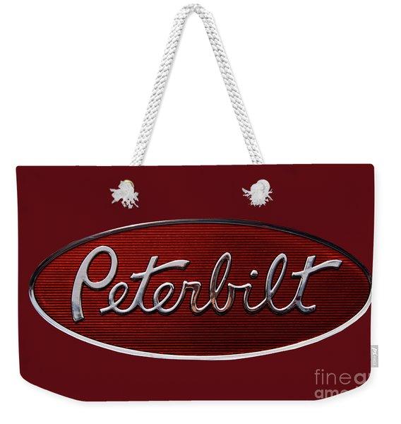 Peterbilt Emblem Red 8 Weekender Tote Bag